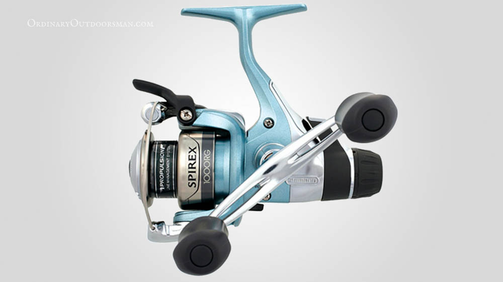Photo of Shimano reel with the caption: Why I Think the Shimano Spirex RG is the Best Spinning Reel