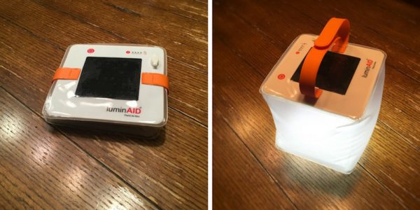 comparison photos of luminaid packlite max inflated and deflated for storage